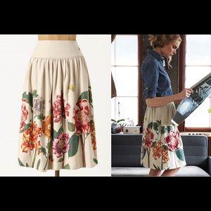 🆕 Anthropologie MEADOW RUE Last Blooming Skirt